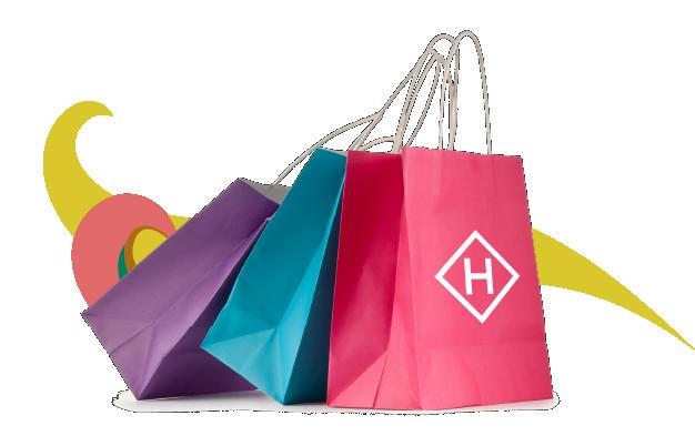 Hanningtons Brighton Shopping Bags